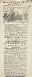 Advert for Tom Thumb and His Family